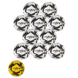 Set of 10 Mitre Calcio Footballs