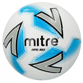 Mitre Impel Max Football - White/Silver/Blue