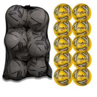 Mitre Calcio Training Football - Pack Of 10 with ball bag