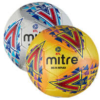Mitre Delta EFL Replica Training Ball - White and Yellow