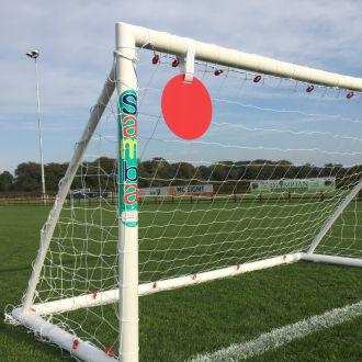 Shooting Target on Samba Football Goal Post