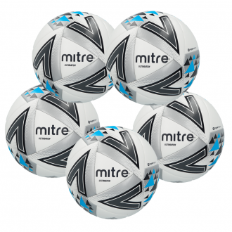 Mitre Ultimatch Football Ball - 5 Pack - White
