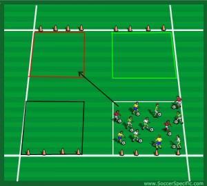 U12 Football Coaching Drill