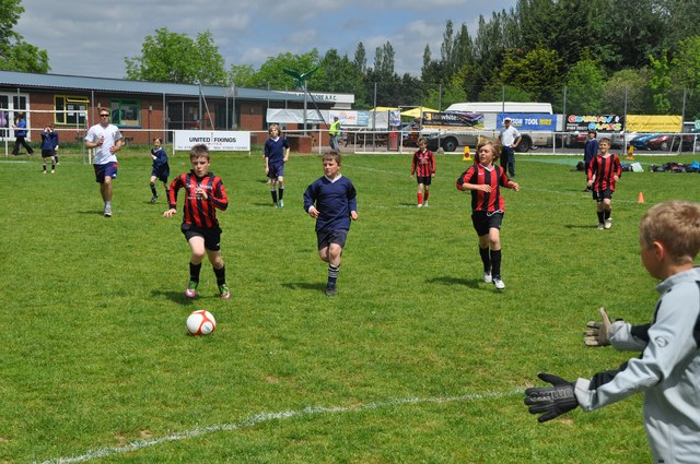 Youth football match in the UK