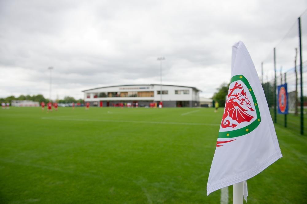 Wales football corner flag