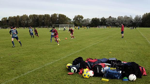 Grassroots football match
