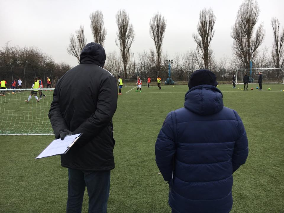 Football scouts in the UK