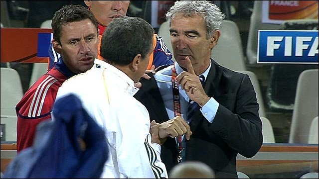 Domenech in 2010 Word Cup