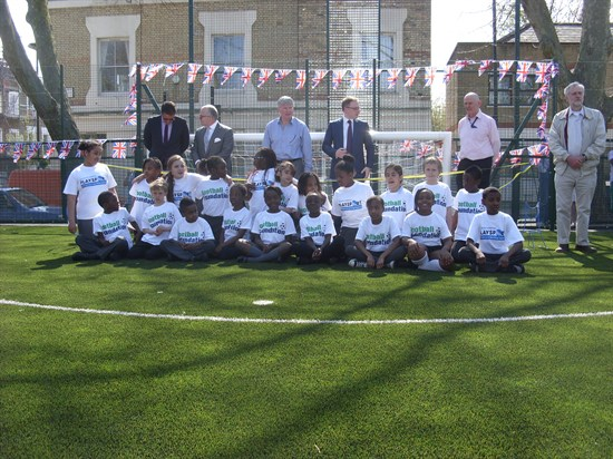 Artificial pitch opens at London school