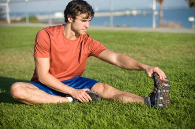 Stretching hamstrings and calves